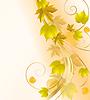 Vektor Cliparts: Herbst floraler Hintergrund