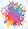 Vektor Cliparts: bunter floraler Hintergrund