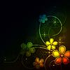 Vektor Cliparts: glühender Blumenhintergrund