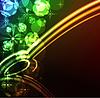 Vektor Cliparts: leuchtenden abstrakten Hintergrund