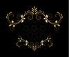 Vektor Cliparts: Klassiker stilisiert floral frame