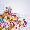 Векторный клипарт: Красочный цветочный фон