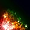 Векторный клипарт: светящийся цветочный фон