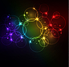 Vector clipart: Abstract glowing background with digital symbols