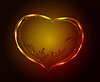 Vector clipart: Glowing heart with flora