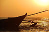 Fishing Boat At Sunset | Stock Foto