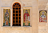 Mosaic Icons in Greek Orthodox Church | Stock Foto