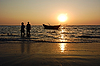Fishermen at Sunset | Stock Foto