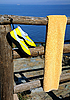 ID 3106124   Towel and Beach Shoes on Wooden Fence   High resolution stock photo   CLIPARTO