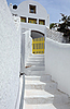 White House in the Village of Pyrgos | Stock Foto