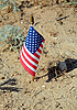 Photo 300 DPI: US Flag in the Middle of Nowhere