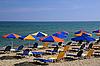 ID 3106309   Bright Umbrellas on the Beach   High resolution stock photo   CLIPARTO