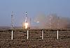 Fatal Progress Space Vehicle Launch    Stock Foto