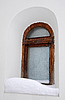ID 3106341 | Frosty Window of Old Orhtodox Chapel | 높은 해상도 사진 | CLIPARTO