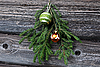Christmas Tree Twig and Decorations | Stock Foto