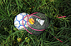 Photo 300 DPI: Badminton Rackets and Bird on the Ball