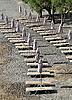 ID 3118384 | Closed Umbrellas on the Empty Beach | High resolution stock photo | CLIPARTO
