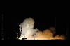 Soyuz Spacecraft Launch at Night   Stock Foto