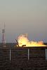 Progress Cargo Spaceship Launch   Stock Foto