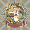 Beer label | Stock Illustration