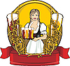 Bier-Etikett | Stock Illustration