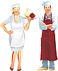Restaurant service | Stock Illustration