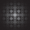Vector clipart: floral design black and white