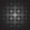 Векторный клипарт: цветочный дизайн черно-белый