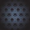 Векторный клипарт: темный цветочный дизайн