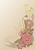 Векторный клипарт: цветы кадра открытку