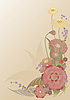 Vector clipart: flowers frame postcard