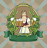 Vector clipart: beer label