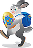 Vector clipart: Easter bunny
