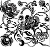 Vector clipart: black flower design
