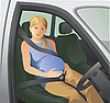 Vector clipart: seat belts and pregnant woman