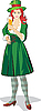 Vector clipart: St. Patrick lady on beer festival