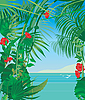 Vector clipart: tropic sea