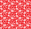 Vector clipart: floral design red