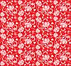 Vektor Cliparts: Blumenmuster rot