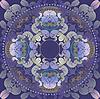 Vector clipart: floral design dark blue