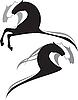 Vector clipart: horses