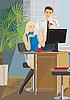 Vector clipart: office work