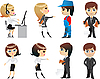 Vector clipart: profession, office,character
