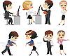 Vektor Cliparts: Beruf, Büro, Charakter