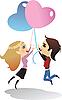 Векторный клипарт: День Святого Валентина открытки