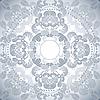 Vector clipart: oriental pattern grey