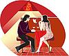 Векторный клипарт: красное кафе