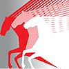 Vector clipart: pink horses