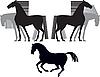 Векторный клипарт: Лошадь силуэт