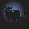 Векторный клипарт: Черная кошка